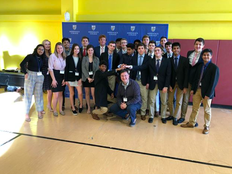 Pingree DECA at the 2019 District Competition held at Merrimack College.