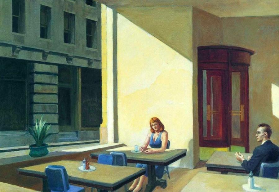 Appreciating Sunlight in a Cafeteria